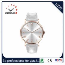 Reloj de vestir de acero inoxidable para hombres con correa de cuero