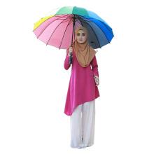 La blusa musulmán impresa de la manga larga del fabricante de China blusa musulmán, blusa islámica de la moda de Singapur blusa de las mujeres del algodón