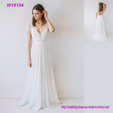 Wholesale White Lace Wedding Dress Classic Bride Dress