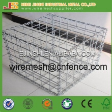Square Hole Shape and Welded Mesh Type Gabion Basket Made in China