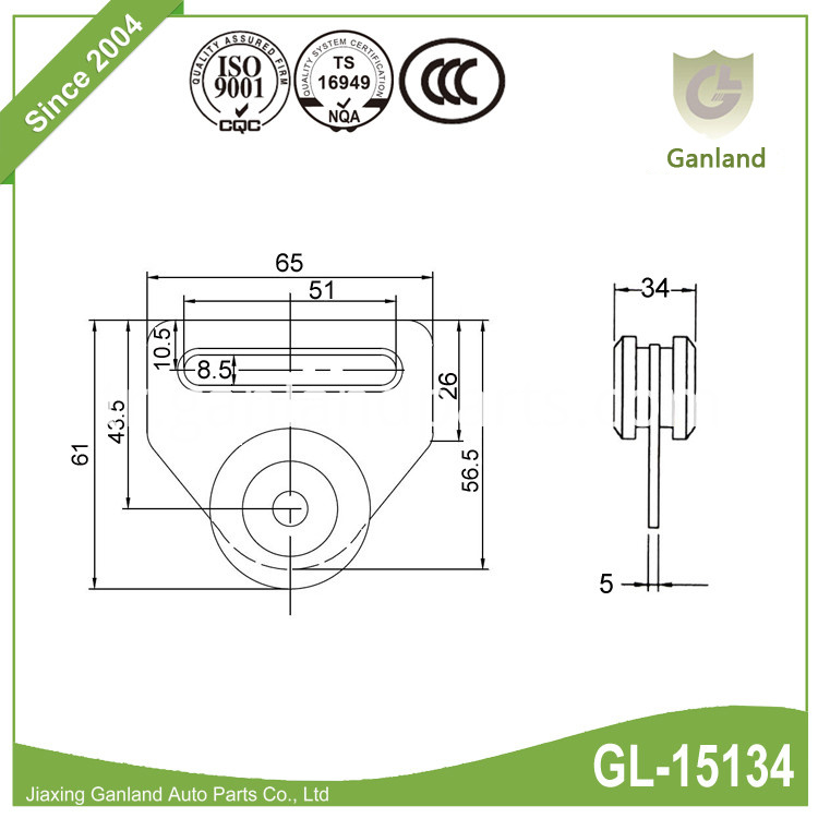 curtain side roller GL-15134