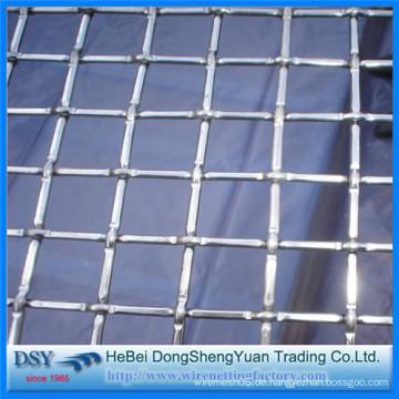 China Gekräuselte gewebte Art quadratischer Maschendraht Hersteller