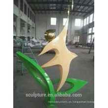 Acero inoxidable para el gran jardín al aire libre esculturas escultura de oliva
