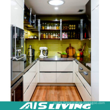 Gallery Shape with Lacquer Design Kitchen Cabinet Furniture (AIS-K170)