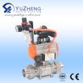 Шаровой клапан 3PC со шланговым соединением с пневматическим приводом