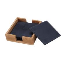Posavasos de mármol y madera