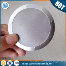 200 micron wrapped edge spot welded filter disc for liquid filtering