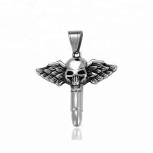 34364 xuping 2018 Nouvelle conception de mode en acier inoxydable bijoux tête de crâne croix pendentif