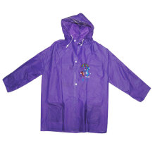 Purple Kids Pvc Rainwear