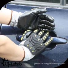 SRSAFETY 13G трикотажная нить с покрытием из нитрила с механической перчаткой 5, перчатки TPR