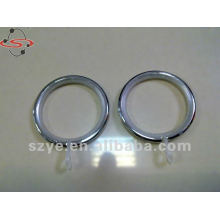 Iron curtain ring for curtain rod decoration