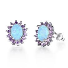 Hot Sale Opal Earring Popular jewelry Opal Stone Earrings for Girl