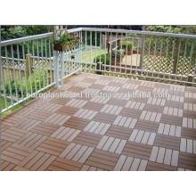 Plástico de madera compuesto impermeable ecológico wpc pavimento azulejo 30x30