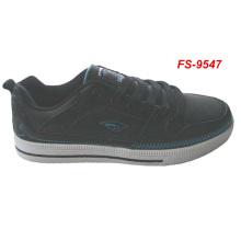 mens stylish black lace up skateboard shoes