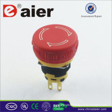 Daier A16-20SR-F DPST Waterproof Emergency Stop Mushroom Button; Emergency Switch;Emergency Stop Switch Push Button