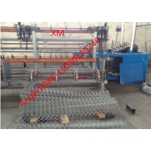 4m Width Full Automatic Double Wire Chain Link Fence Machine