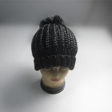 2017 Metallic Chunky Knitting Winter Hat