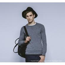 100% cashmere inverno em torno do pescoço knit homens camisola