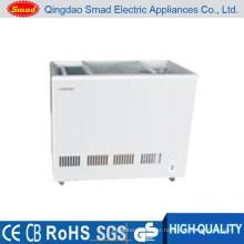 SC/SD(W)-285 Horizontal flat glass door chest freezer with lock