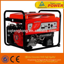 100% copper wire 2.5kw portable mini 6.5hp gasoline generator set