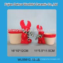 Red Rentier geformt Keramik Blumentopf in hoher Qualität