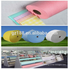 compostion:natural wood pulp paper polyester Spunlace non-woven fabric rolls with aperture