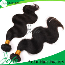 Extensión natural del cabello humano de Remy Virgin Hair de calidad superior