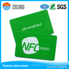 Kontaktlose RFID Smart Cards NFC Visitenkarte
