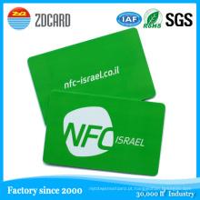 Cartões inteligentes de RFID de Contactless Cartão de visita de NFC