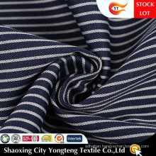 White Black Stripe Fabric For Shirt Office Uniform