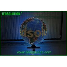 Exposição da bola do diodo emissor de luz do diâmetro de 1m / exposição de diodo emissor de luz global