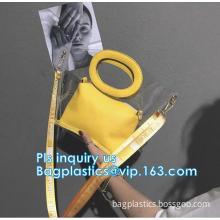 tote bag pu waterproof beach package handbag, Colorful PVC PU Handbag For Woman, Beach Bag Women Handbag With Cotton Rope