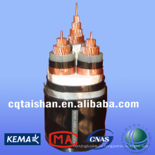 Государственная сеть 10kV XLPE изолированные кабели питания STA 3 * 300 мм2 для постоянного тока