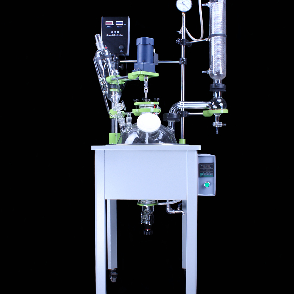 continuous stirred glass reactor