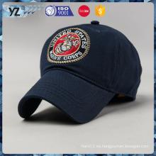 Insignia 100% del bordado de la tela cruzada de la tela cruzada del algodón gorra de béisbol única