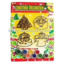 Conjunto de suncatcher de decoração de Natal, brinquedos de desenho