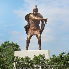 guerrero espartano de bronce de alta calidad