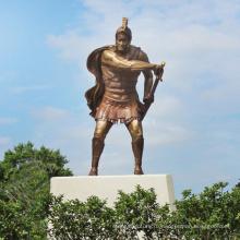 высокое качество бронзовая статуэтка спартанского воина