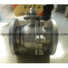 Fio da flange da válvula de esfera com aço inoxidável RF 2PC