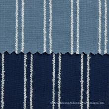 Tissu de denim de coton tissé teint par fil pour la chemise