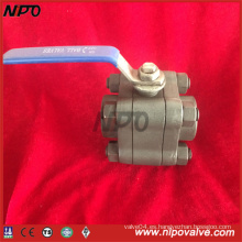 Válvula de bola NPT de acero forjado ANSI