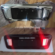 Newest toyota hiace 2005-2015 red yellow white LED chrome black white rear license plate frame