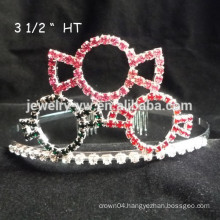 wholesale hair accessories crystals cat shape baby girl headbands