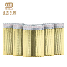 Auto-sellado resistente a los golpes propio logotipo de impresión brillante Película de papel de aluminio personalizado oro rosa metálico pegatina de correo