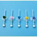 iv cannula with injection port