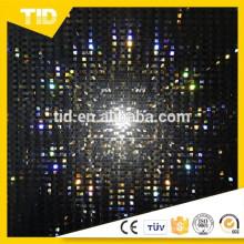 Feuilles de PVC réfléchissantes en plastique transparent de haute qualité noir