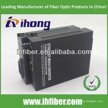 10/100 / 1000M Fibra Óptica Media Converter singlemode fibra dual puerto ST 20 km