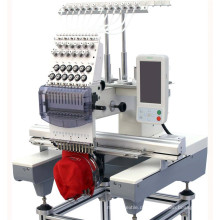 Einzelkopf-Hochgeschwindigkeitshandelsstickerei-Maschine für Hut / Kappe / T-Shirt / Uniformen / Jacken / flach