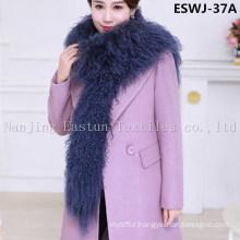 Long Pile Natural Mongolian Fur Scarf Eswj-37A