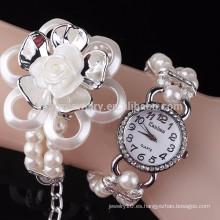 Lotus pulsera de diamantes de perlas reloj de moda señoras relojes BWL046